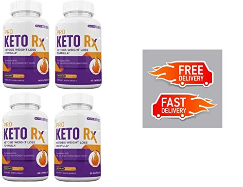 PRO Keto RX (240 Capsules) Weight Loss & Fat Burn Formula - 4 Months Supply