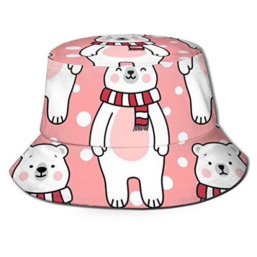 JOJOshop - Sombrero unisex con diseño de osos polares para pescadores, color negro
