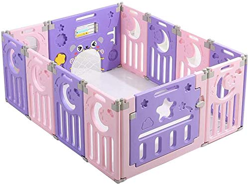 Interessant Zhoumei baby Box Fence baby Park Kids Barrier met Crawling MaSafety Plastic Child Protection deurpaneel GamSpace (Size : 80x110x62cm)