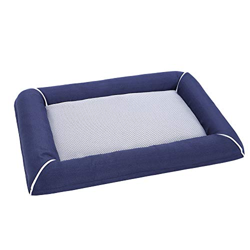 EMME Dog Bed for Crate Pet Pads for Cat, Puppy and Large Dogs Removable Cover Washable Breathable and Tear Resistant Quick Dry Perfect for Indoor and Outdoor (Navy, XX-Large)