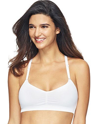 Hanes womens Comfortflex Fit T-shirt Soft Wirefree Pullover T Shirt Bra, White, XX-Large US