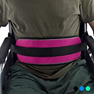 Wheelchair Seat Belt Safety Belt Fixed Elderly Belt Constrained Bands with Adjustable Straps Patients Cares Safety Harness Chair Waist Lap Strap for Elderly (Red)