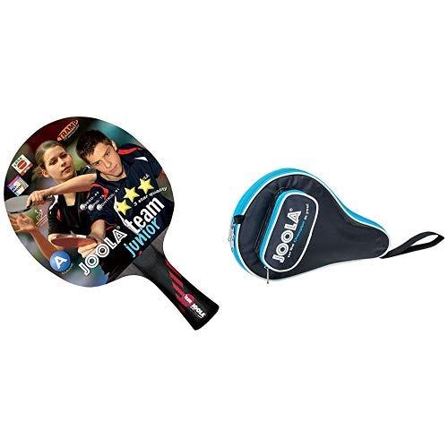 JOOLA Tischtennisschläger Team Junior & JOOLA TT-Hülle Pocket schwarz-blau