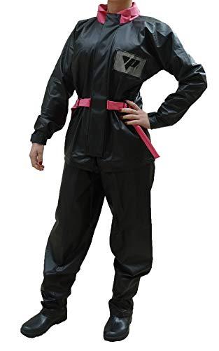 Capa de Chuva Para Motoqueiro Feminina Blusa E Calça Pvc Impermeavel Pantaneiro G