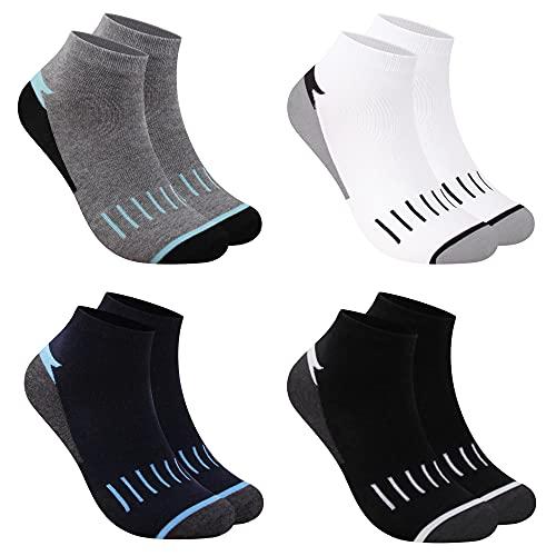 L&K 12 Paar Herren Sneaker Socken Baumwolle Sportsocken atmungsaktiv mehrfarbig 2121 43-46