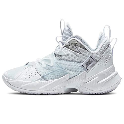 Nike Jordan Why Not Zer0.3 (Gs) - White/metallic Silver-White-Black, Größe:5.5Y