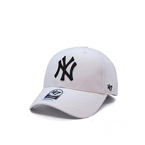 47_brand Casquette MLB New York Yankees MVP Curved V Struct fit Beige Taille: Réglable