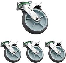 4X Heavy Duty zwenkwielen/Castor 4in/5in stille zwenkwielen/remwielen/directionele zwenkwielen met bovenplaat Dubbel gelag...