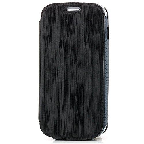 Saxonia. Moderne Schutzhülle für Samsung Galaxy S Duos GT-S7562 schicke Tasche mit tollem Design und bester Schutz. Schwarz