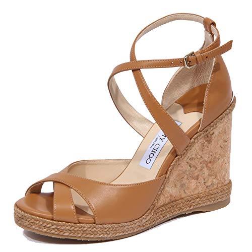 1933J Sandalo Donna Light Brown JIMMY CHOO Alanah Zeppa Shoe Woman