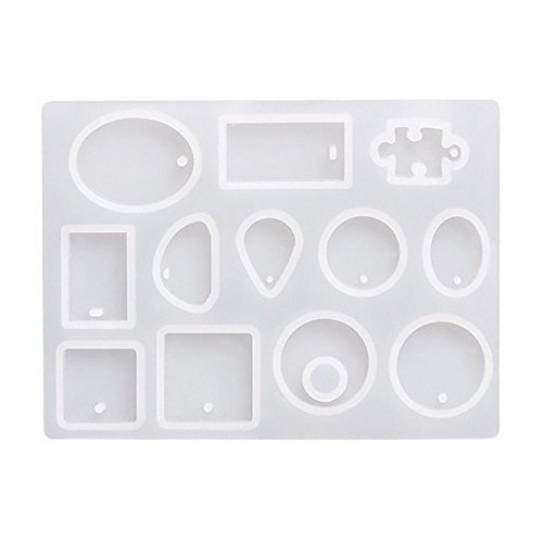 Oppal Silicone Mold Necklace Pendant Resin Jewelry Making Mould DIY Hand Craft, Home DIY for Easter Day (Clear)