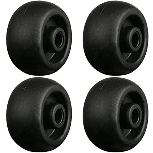(Juego de 4) 35x22mm Back Mute Reparación de goma Reemplazo de equipaje Rueda Maleta Ruedas Piezas Spinner (DiLong)