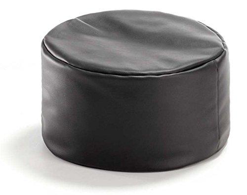 VALERIAN Sitzkissen Leder-Look schwarz