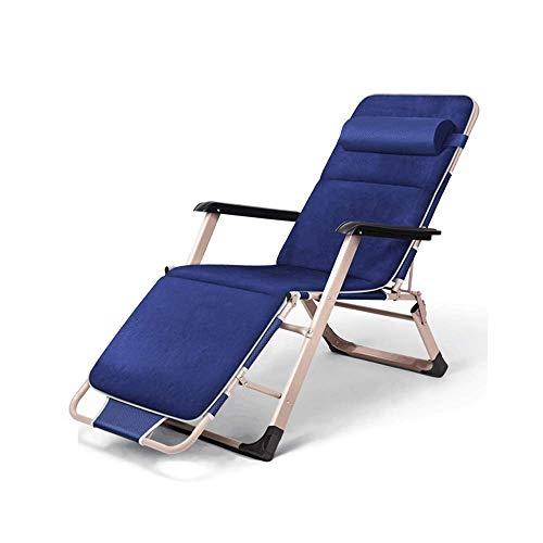 WSDSX Silla reclinable Plegable Silla reclinable Plegable, Sillón reclinable reclinable Silla de jardín Plegable con reposabrazos para Interior Silla de Ocio Perezosa Pesca al Aire Libre B