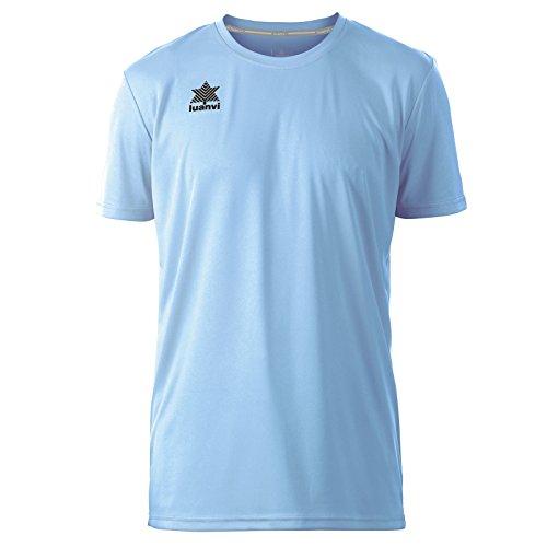 Luanvi Pol Camiseta de Deportes Manga Corta, Hombre, Celeste, S