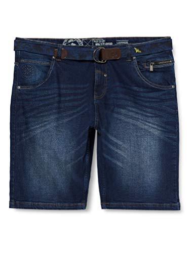 LERROS Herren Bermuda Denim Shorts, Blau (Night Blue 480), W(Herstellergröße:33)