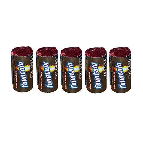 Lot de 5 à 30 mini volcan h2i - Feu d'artifice - Étoiles magiques - Pour fontaine à glace - Pluie de rêve - Pour les fêtes - Avec des étincelles argentées, rouges et dorées et bleues - Kat: F1