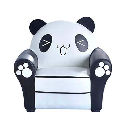 HYYQG SillóN PequeñO para NiñOs - Sofá Individual Panda, Nordic Baby Sofá Infantil para La DecoracióN De La HabitacióN De Los NiñOs LatóN Amarillo Mini Enrejado Sofá Cama, White