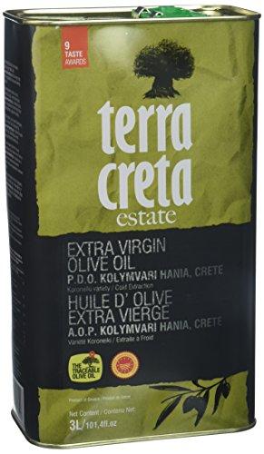 Terra Creta PDO Natives griechisches Olivenöl Extra - (3L) -14 Gewinner des Geschmackspreises (PDO 3L kretisches Olivenöl)