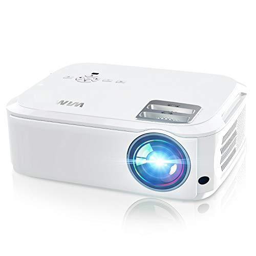 Videoproiettore P21, 7200 Lumen Nativa 1080P LED Proiettore Full HD Con 300'' Display Supporto 4K Per presentazione Computer PPT, Smartphone, PC,PS4,Tvbox,Laptop