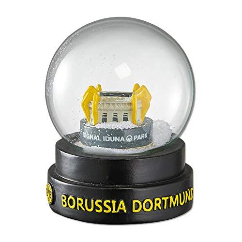 Unbekannt Borussia Dortmund Schneekugel Stadion, Schüttelkugel, Weihnachtskugel, Snow Globe BVB - Plus Lesezeichen I Love Dortmund