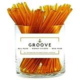 Groove Wildflower Honey Sticks | Local - Kosher Certified - All-Natural - Honey Stix | 50 Pack | Honey Sticks For Tea, Wedding Favors, Kids Snacks, Outdoors & More