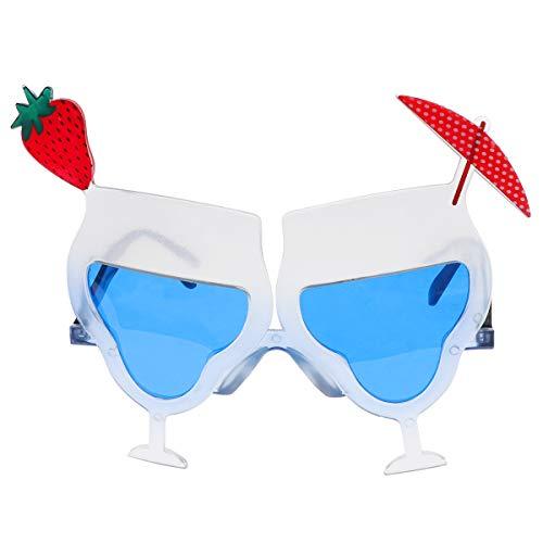 Amosfun Sonnenbrille Erdbeere Tequila Cocktailform Party Dekorative Brille Hawaiian Tropical Sonnenbrille für Sommer Party Supplies