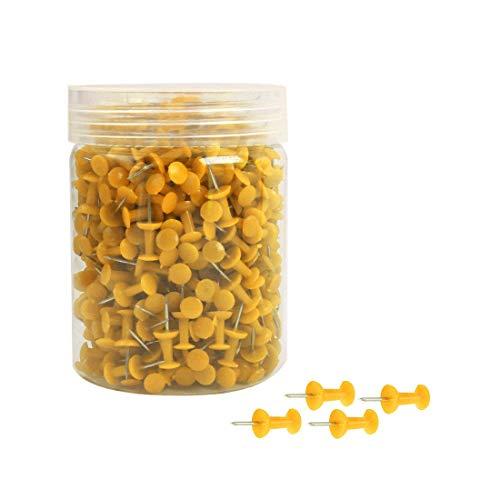 YeVhear - 500 chinchetas de 3/8 pulgadas (19 cm), color amarillo