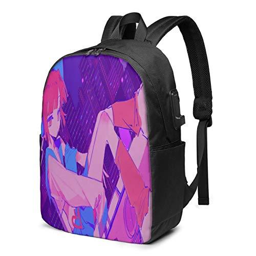 Mochila de viaje multifuncional, de 43,7 cm Mu-Se Da-Sh mochila de hombro con puerto de carga USB y orificio para auriculares.