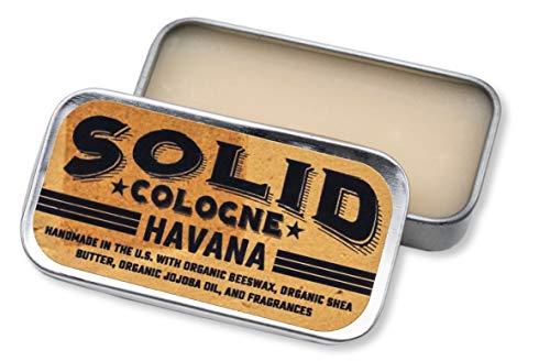 """SOLID Cologne -""""Havana"""" Scent - Men's""""Pocket-Size"""" Fragrance. - .25 oz Tin"""