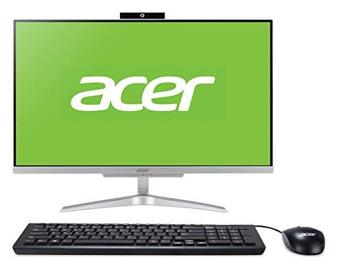 """Acer Aspire C24-865 - Computer desktop tutto in uno da 23.8"""" FHD (Intel Core i3-8130, 8 GB RAM, 256 GB SDD, Intel UHD Graphics 620, Windows 10 Home) argento"""