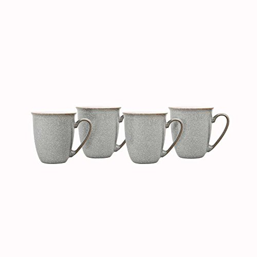 Denby Elements Kaffee- und Becher-Set, 4-teilig, grau