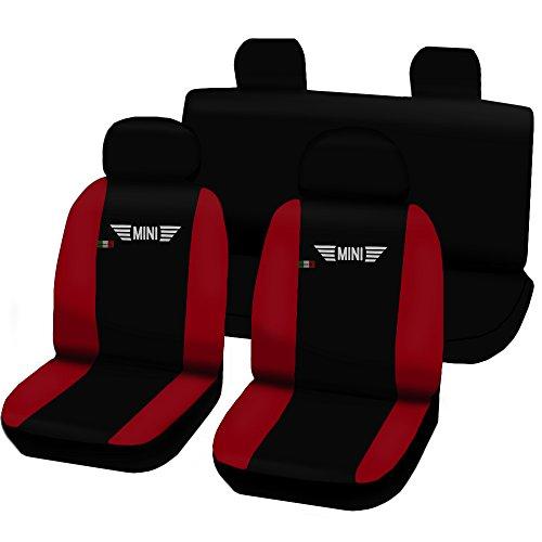 Lupex Shop Sitzbezüge für Mini, zweifarbig, schwarz/rot