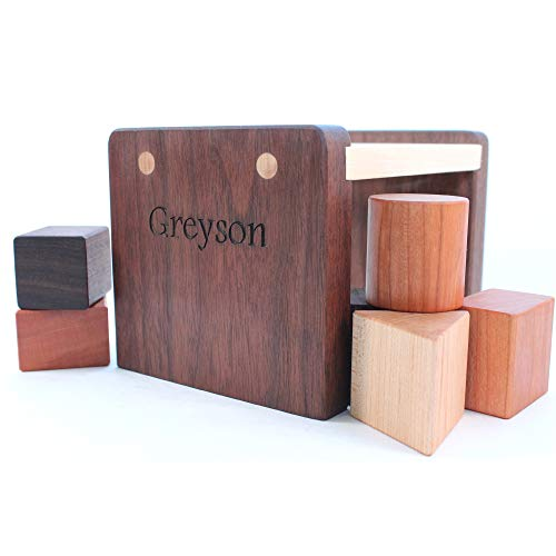 Handmade Wood Shape Sorter Toy