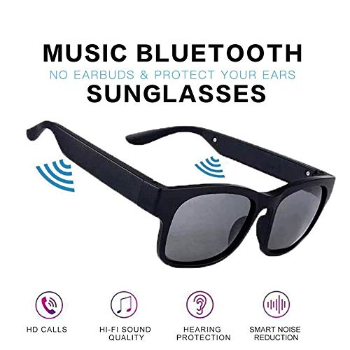 Nacht bot bluetooth bril Bluetooth zonnebril, Wireless Bluetooth Headset 5.0TWS Binaural Mini Call Mobile Phone Universal Smart Glasses (Color : C)
