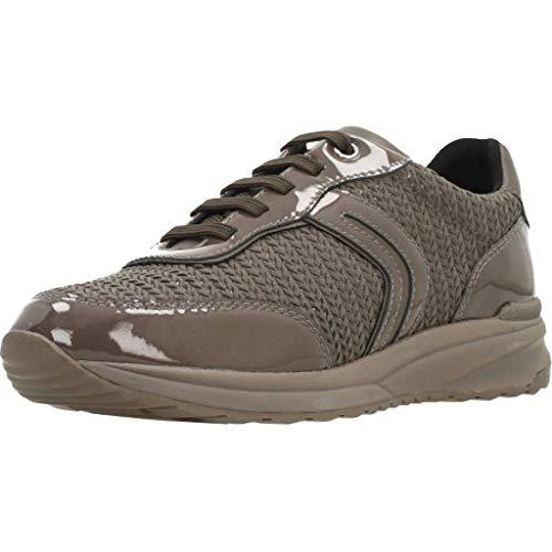 Geox Damen D AIRELL A Sneaker, Braun (Chestnut C6004), 40 EU
