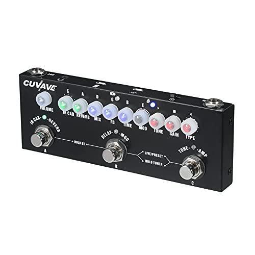 Montloxs CUBE BABY Pedal de efecto combinado de guitarra eléctrica multifuncional portátil con reproducción de música inalámbrica Función de interfaz de audio de grabación de teléfono