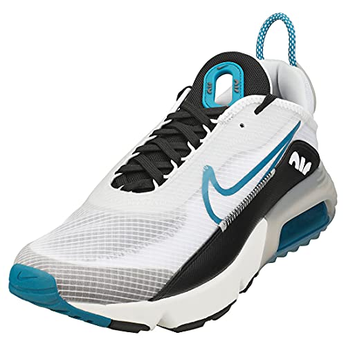 Nike Air MAX 2090, Zapatillas para Correr Hombre, White Green Abyss Black Pure Platinum Summit White Lt Smoke Grey, 43 EU