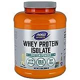 NOW Sports Nutrition, Whey Protein Isolate, 25 G With BCAAs, Creamy Vanilla Powder, 5-Pound