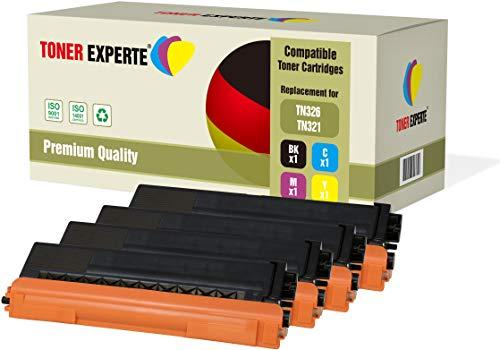 Pack de 4 TONER EXPERTE® Compatibles TN-326 TN326 Cartuchos de Tóner Láser para Brother HL-L8250CDN, HL-L8350CDW, DCP-L8400CDN, DCP-L8450CDW, MFC-L8600CDW, MFC-L8650CDW, MFC-L8850CDW