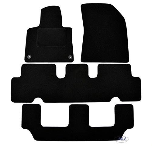 J&J AUTOMOTIVE | Tapis DE Sol Noir Velours Compatible avec Citroen C4 Grand Picasso II 2014-depuis
