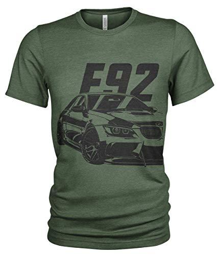 E92 M3 Custom - Maglietta da uomo Verde militare. L