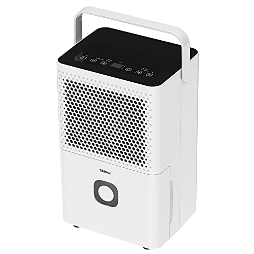 Shinco 30 Pints 1,500 Sq.Ft Lightweight Dehumidifier for Home, Basement and Bedroom, with Intelligent Humidity Control & Continuous or Manual Drainage