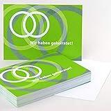 50 Ballonflugkarten für die Hochzeit, Claudia Kipp: Wir haben geheiratet! (Rückseite unbedruckt), DIN A6