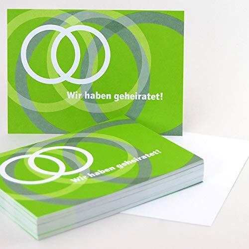 50 Ballonflugkarten für die Hochzeit, Claudia Kipp: Wir haben geheiratet! (Rückseite unbedruckt),...