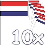 DH-Konzept 10 Fähnchen * NIEDERLANDE / Holland * als Deko für Mottoparty oder Länder-Party | Netherlands Flaggen Fahnen Papierfahnen Flag