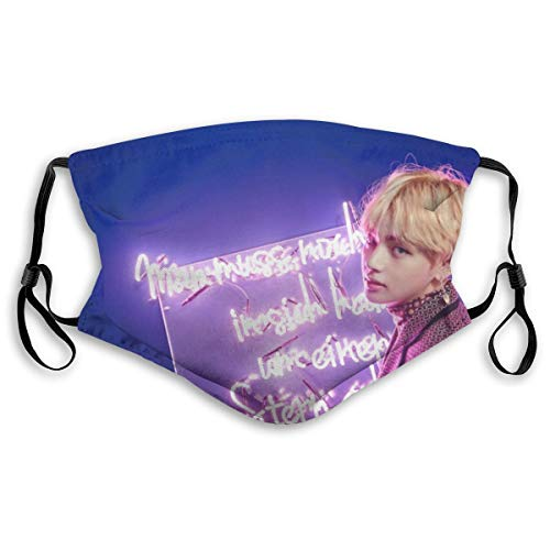 VV8VJBOY0D Mouth Facial Cloth Child Filter Washable BTS V Kim Tae-Hyung Face Protection Nose Air Pollution Man Women S