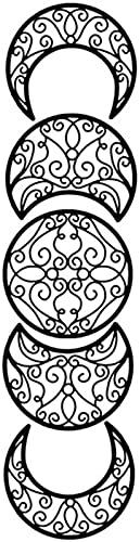 TBNB Colgante de Pared de Luna, 5 Piezas de decoración de Luna de Madera Pegatinas de Pared 3D Colgante para habitación de niños Adornos de Fiesta de Boda Regalos artesanales