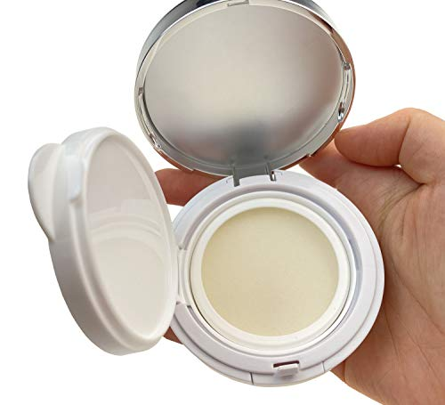 ASTRQLE 15ml 0.5oz Empty Luxurious Portable Make-up Powder Container Air Cushion Puff Case with Powder Puff and Mirror Refillable Foundation BB Cream Box