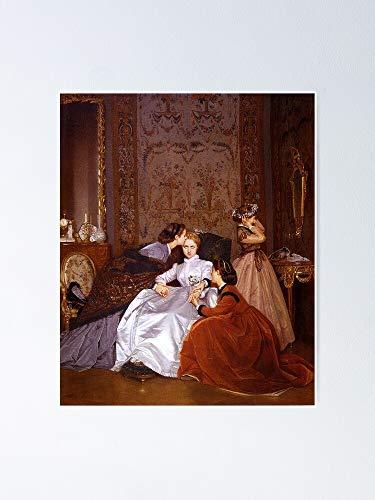 AZSTEEL Póster de The Reluctant Bride - August Toulmouche 11.7 x 16.5